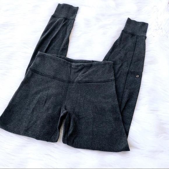 9fe632465b2c82 lululemon athletica Pants | Lululemon Rare Charcoal Grey Sweat ...